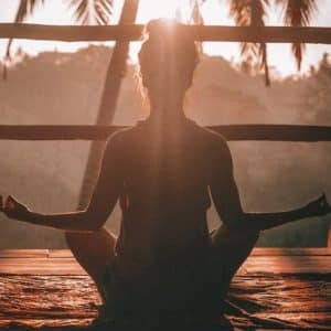 Sunset Meditation on Deck